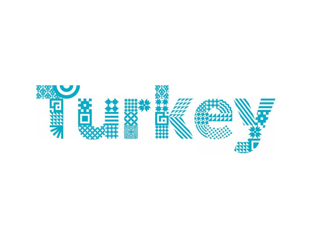 NEW TURQUOISE CARD OF TURKEY